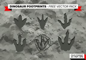 Dinosaurier Abdrücke Free Vector Pack