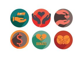 Donate Icon Vectors