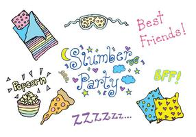 Gratis Slumber Party Vector Series
