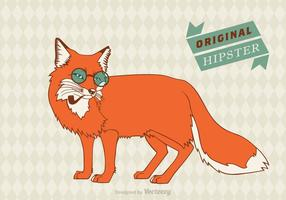 Gratis Hipster Fox Vector Bakgrund