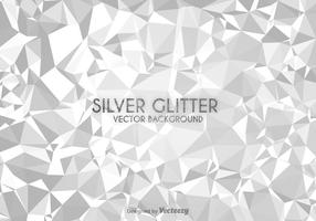 Silver Low Poly Vector Background