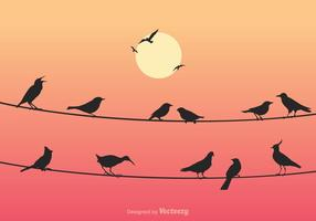 Illustration vectorielle Free Birds On Wires