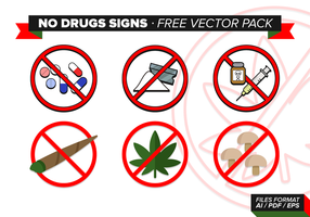 Geen Drug Signs Gratis Vector Pack
