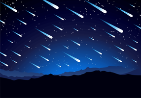 Meteor Shower Background Free Vector