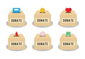 Donate box vectors
