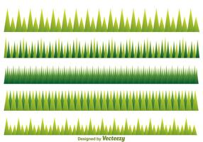 Green Grass Pattern vector