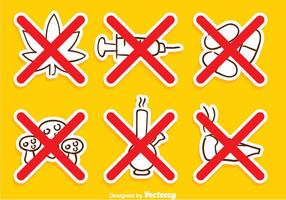 No Drugs Cross Sign vector
