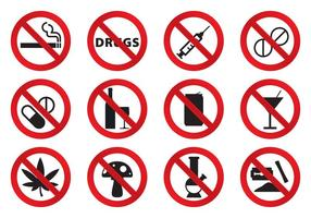 No Drugs Icons