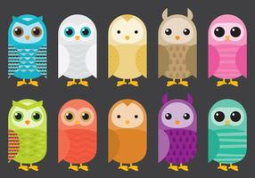 Colorful Barn Owl Vectors