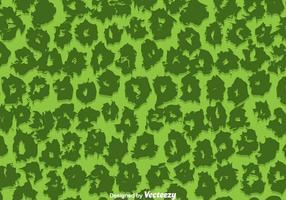 Grön leopardmönstervektor