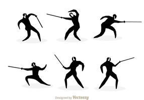 Fencing Silhouette Vectors