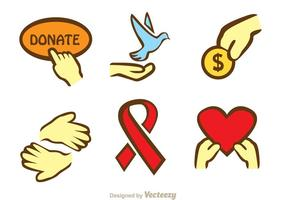 Donate Hand Icons