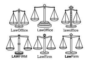 Logotipo de la Oficina de Derecho vectores