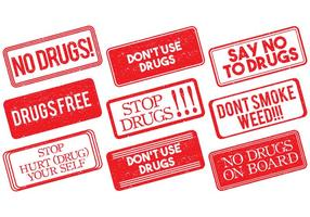 No Drugs Stamp Vector