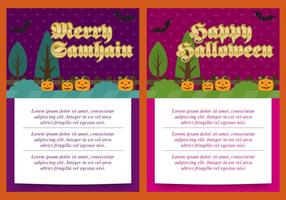 Cartões Samhain E Dia das Bruxas