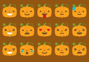 Pumpkin Emoticon Vectors