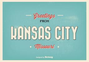 Kansas city missouri hälsning illustration