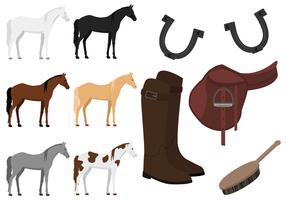 Vector de cavalos grátis