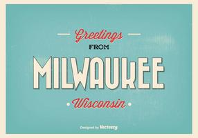 Milwaukee Retro hälsning illustration
