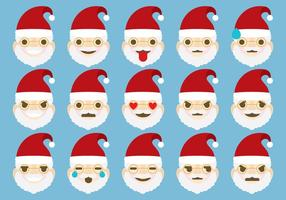 Emoticonos de Santa vector
