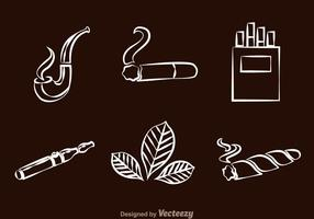 Smoking line Icons vector
