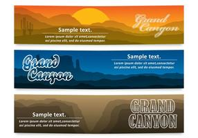 Grand Canyon Banners vector