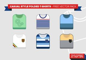 Casual Style Folded Tshirts Free Vector Pack