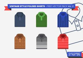 Vintage Folded Shirts Gratis Vector Pack Vol. 3