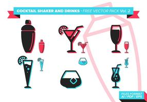 Cocktail Shaker And Drinks Free Vector Pack Vol. 2