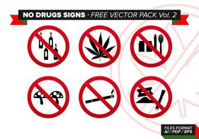 No Drugs Signs Free Vector Pack Vol. 2
