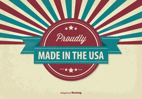 Retro-Stil Made in USA Illustration