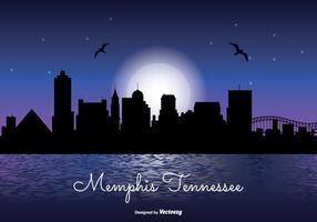 Horizonte nocturno de Memphis Tennesse