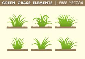 Grön Gräselement Gratis Vector