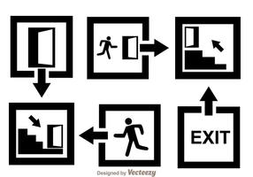 Black Exit Icons vector