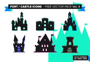 Fort castle icons free vector pack vol. 4