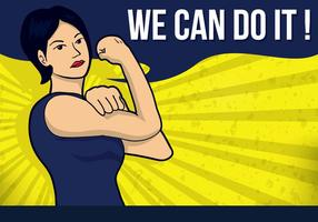 We Can Do It Illustration Vector