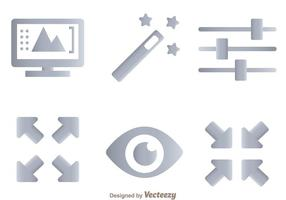 Photo Editing Tool Icons vector