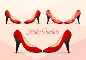 Ruby Shoes Vectors