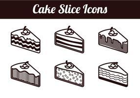 Tranche de gâteau vecteurs isolés