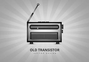 Old transistor radio vector