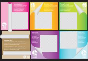 Scrolled Paper Templates With Photo vector