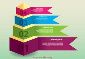 Layered Pyramid Chart Vector
