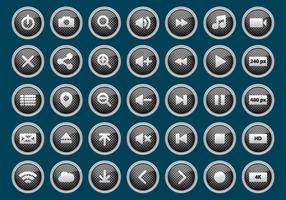 Metalen Media Player Buttons