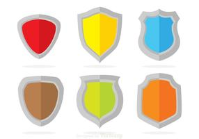 Vetores de proteções de cores
