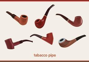 Vectores de tubería de tabaco