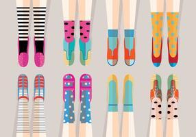 Vetores de sapatilhas divertidas