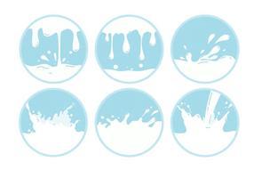 Vecteurs de vagues de lait vecteur