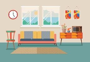 Mid Century Furniture Vector