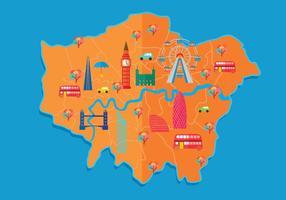 Londen kaart