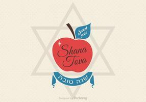 Kostenlose Shana Tova Grußkarte Vektor